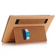電腦皮套_.7真皮插卡支架手托智能多功能商務電腦皮套0021