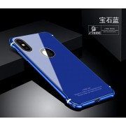 適用於iPhoneX金屬邊框+鋼化玻璃背板蘋果X炫酷炫彩鎖螺絲手機殼0024