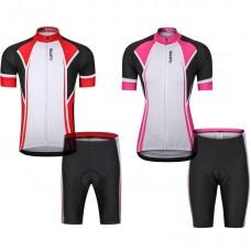 夏季短袖套裝_男女騎行短袖套裝自行車騎行服情侶款短袖騎行服0029