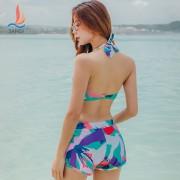 廠家直銷游泳衣女三件套比基尼罩衫韓國顯瘦小胸聚攏運動泳裝