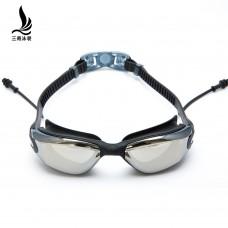 廠家直銷三奇泳鏡男女成人大框防水防霧高清電鍍游泳眼鏡潛水泳鏡