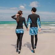 2020新款情侶潛水服浮潛分體防曬水母衣女長袖長褲泳衣保守 泳裝