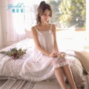 夏季甜美蝴蝶結蕾絲公主睡裙女韓版莫代爾吊帶性感睡衣夏0064