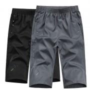 大碼裝夏季新款男士七分褲青年時尚休閑沙灘褲彈力戶外運動短褲子,任選2件 0081