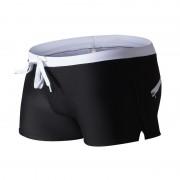 男士泳褲男式泳褲平角泳褲跨境拉鏈識計后口袋泳褲時尚沙灘灘泳褲,任選3件0086