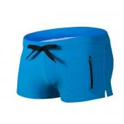 跨境熱賣沙灘游泳衣男士泳褲男式泳褲拉鏈設計前口袋泳褲平角泳褲,任選3件0090