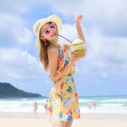 泳裝新款韓版連體裙式泳衣女小胸聚攏性感露背遮肚溫泉泳衣