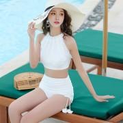 汐歌兒 游泳衣韓國新款泳衣女士分體比基尼性感蕾絲溫泉泳裝