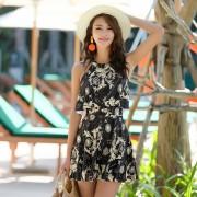 新款韓版性感連體裙式泳衣女保守遮肚顯瘦學生溫泉泳裝