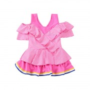 韓版平角游泳衣連體公主裙式可愛兒童游裝學生中大童寶寶女童