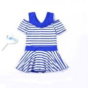 公主裙式游泳衣可愛女童寶寶泳裝學生中大童平角兒童連體泳衣