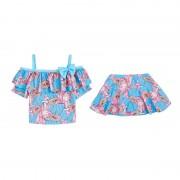 新款兒童泳衣可愛中大童可愛公主泳衣韓國小清新溫泉小香風游泳衣