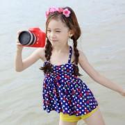 韓國兒童泳衣可愛蕾絲公主寶寶分體溫泉女孩女童中大童比基尼批發