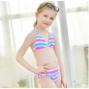 多喜貝爾新款兒童泳衣女孩寶寶比基尼女中大童學生二件套泳裝