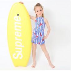 汐琪新款兒童泳衣 女童連體裙泳衣 中大童連體泳衣女