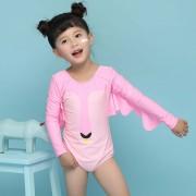兒童泳衣 可愛天鵝連體泳衣 防曬女寶寶泳衣