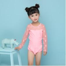 兒童泳衣 女童連體泳衣 沙灘防曬兒童泳衣