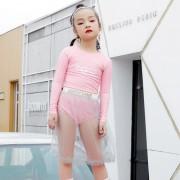 汐琪兒童泳衣 女童連體泳衣 混搭紗裙女童游泳衣