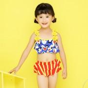 汐琪兒童泳衣 女童分體泳衣 寶寶花朵比基尼