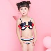 汐琪新款兒童泳衣 女童分體泳衣 卡通寶寶比基尼沙灘衣