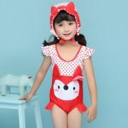 新款兒童泳衣 汐琪品牌卡通女童泳衣 女寶寶可愛連體泳衣