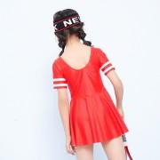 汐琪兒童泳衣 23號運動女童連體泳衣 連衣裙兒童泳衣