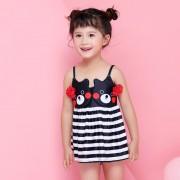 兒童泳衣 新款分體裙女童泳衣 卡通小熊寶寶泳衣