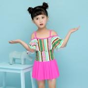 兒童泳衣 女童連體泳衣 裙式兒童泳衣