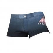 austinbem男士泳褲平角泳褲時尚個性圖案男式泳褲運動游泳褲