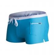 歐美男士泳褲男式泳褲平角泳褲時尚前口袋游泳褲男士泳裝沙灘泳衣