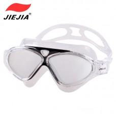 泳鏡電鍍J8170M高清防霧防水不壓眼大框男女士平光眼鏡游泳裝備