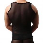 Brave Person 網紗透明背心無袖背心超薄性感家居男士內衣BR2229