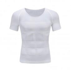 無縫升級版束胸收腹短袖塑形束身內衣緊身背心運動男士塑身衣