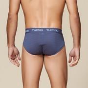 100%桑蠶絲絹絲針織高檔無縫三角內褲  舒適透氣男士中腰真絲內褲