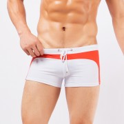 新款男士泳褲 低腰性感拼色個性男泳褲沙灘平角外貿泳褲廠家直銷