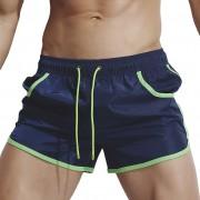 Superbody新款男士防水跑步健身三分口袋短褲性感時尚外貿沙灘褲