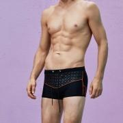 Superbody歐美男士平角性感泳褲時尚拉鏈低腰游泳褲溫泉外貿泳衣