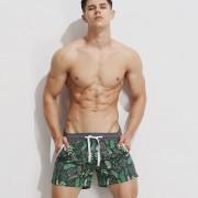Superbody夏季男士印花沙灘褲速干海邊休閑潮流時尚寬松度假短褲