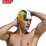 新款專業印花硅膠游泳帽男女通用多色泳帽防水硅膠不緊繃舒適