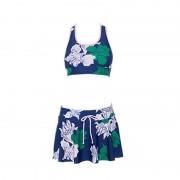 廠家直銷比基尼三件套女士小胸聚攏性感罩衫顯瘦保守溫泉泳衣